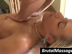 Kara Novak - Naughty Babe Gets Small Tits Massaged With Oil