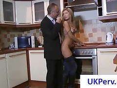 Gorgeous Blonde Girl Gets Nailed By An Old UK Perv