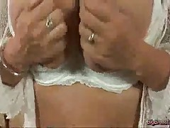 Big Breasts Babe Squizing Hard And Dildoing Her Pussy