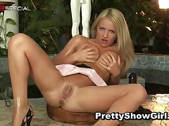 Blonde Filthy Hottie Working On A Big Vibrator 2 By PrettyShowGirl