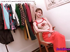 Small Titted Teen Babe Fingers Twat In Closet