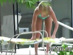 Blonde Gets Spied On While Sunbathing And Is Eager To Get Fucked By Him