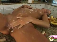 Teen Emery - Girl Licks Whipcream