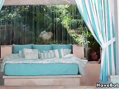 Gabriela Paltrova - Very Hot Brunette Gabriela Paltrova Is Stripping And Rubbing Her Boobs And Pussy