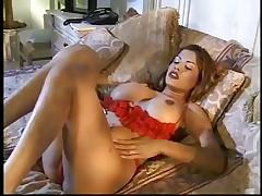 Boricua Alexis Amore Uses Ribbed Rubber cock