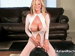 Rachel Aziani - Hot Blonde Milf With Huge Tits Gets An Orgasm By Riding The Sybian Toy By AzianiRach