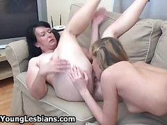 Cute Blonde Teen Girl Loves Getting Her Pussy Licked By Two Mature Women By OldNYoungLesbians