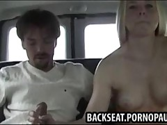 Guy Bangs Teen On The Backseat