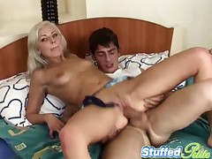 Eva - Stuffed Petite - Petite Blonde Eva Facial