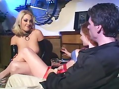 Audrey Hollander - Group Sex With Babes In Fishnet Stockings And Latex Lingerie