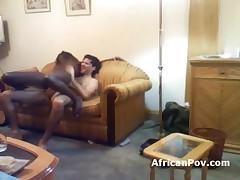 Marikum - Interracial Fuck With Slim African Girl In Amateur Video