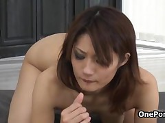Horny Japanese Idol Loves Sucking Dick And Eating Cum By OnePondo
