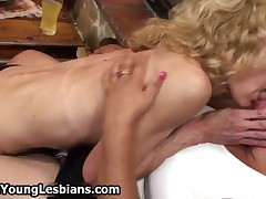 Perky Blonde Teen Girl Gets Dirty With Three Horny Older Wifes By OldNYoungLesbians