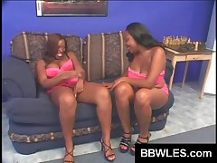 Horny Black Lesbians Lick Their Fat Pussies