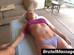 Lexi Belle - Tall And Beautiful Teen Babe Gets Massaged With Oil