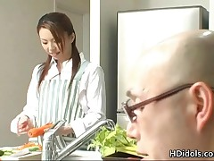 Tomoe Hinatsu - Omoe Hinatsu Cooks Up Sex In The Kitchen 1 By HDidols
