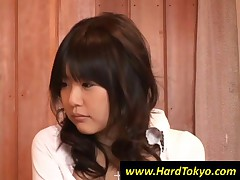 Smiling Japanese Teen Girl Gets Tits Licked In 3some