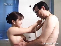 Awsome Asian Cutie Gets Sexy Assets Washed In Shower
