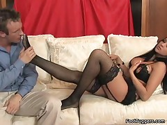 Audrey Bitoni - Stroking On Cock With Her Sexy Feet