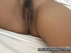 Hairy Pussy Asian Hottie Handjob Pleasure In Bed 1 By Realasianamateur