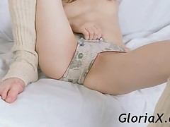 Graceful Teenage Honey Showing Small Tits And Pink Twat