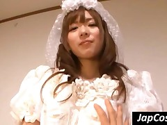 Japanese Bride Showing Booty Upskirt