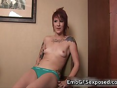 Nasty Tattoed Emo Naked Giving The Finger 1 By EmoGFsExposed