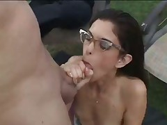 Eva Edwards Gets Spit Roasted By Dad And Son