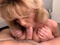 Horny big tit milf loves to suck it!