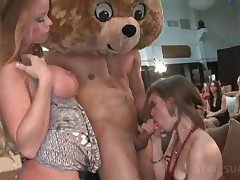 Horny Bitches Get Facially Cumshoted By Stripper