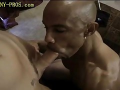 Black Guy Suck Tranny And Cums To His Mouth