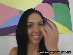 Stephanie Cane - 20 Years Old Teen Porn Star Stephanie Cane Videotaped During Her Interview
