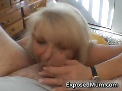 Nasty Mom Shows Her Juggs And Sucks Cock 3 By ExposedMum
