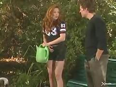 Hot Blowjob In The Garden