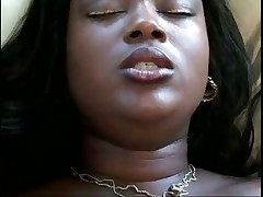 Ebony Shaves Her Pussy Before Fucking