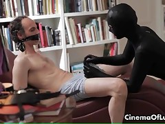 Sensual Sex Scene With A Girl In Spandex Pleasing A Bound Man By CinemaOfLust