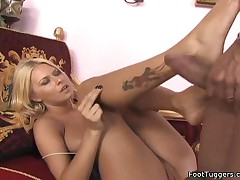 Riley Evans - Riley Uses Her Feet To Please
