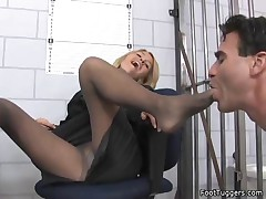 Krissy Lynn - Police Woman Giving Footjobs