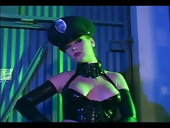 Audrey Hollander - Redhead In A Cop Uniform And Latex Gloves And Corset Fucking
