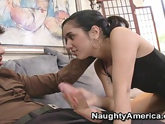 Tia Cyrus - Latin Adultery - Tia Cyrus Rolls Her Tongue On Some Hard Cock While Teaching Spanish.