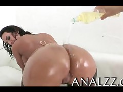 Franceska Jaimes - Huge Rack Brunette Porn Skank Francesca Jaimes Gets Her Oily Asshole Railed And F