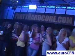 Gorgeous Party Chicks Having Fun With Lucky Stripper