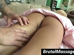 Kacey Jordan - Beauty Blonde Babe Kacey Jordan Gets Massaged