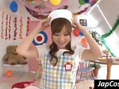 Cutie Japanese Nurse Licking Patients Body