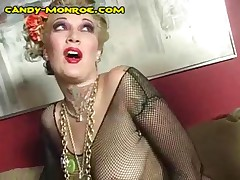 Candy Monroe - Candy Makes Her Cuckold Wear Fishnet Stocking