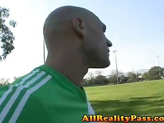 Reena Sky - Horny Spanish Flies - Latin Soccer Player Smacks Balls