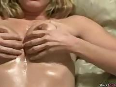 Boyfriend Fucks His Babe Oily Big Tits