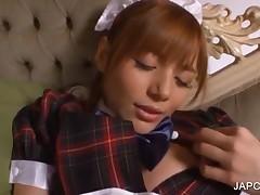 Redhead Asian Beauty Masturbating With Vibrator