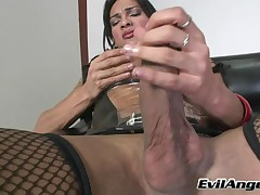 Jo Garcia - She-Male Idol The Auditions - Shemale Shows Off His Gigantic Dick To Make It As A Pornst
