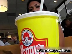 Fine Ass Latina Darling Taking A Snack 1 By LatinaGFexposed